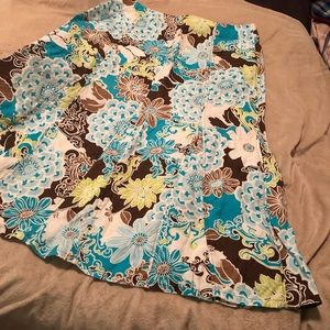 Kim Rogers multicolored floral skirt